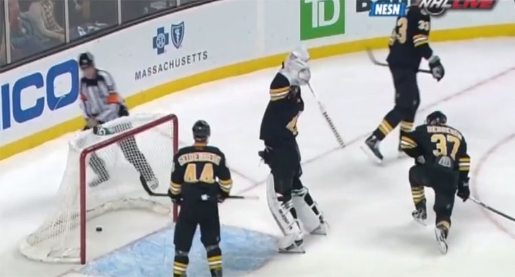Tukka Rask stick smash